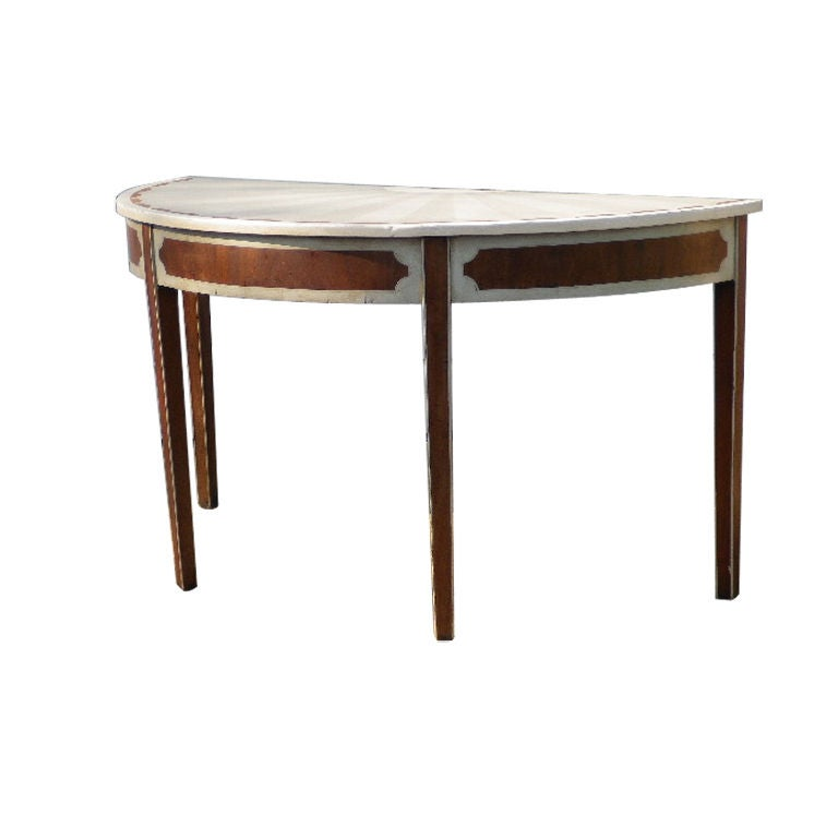 unusual demi lune console table for sale at 1stdibs. Black Bedroom Furniture Sets. Home Design Ideas