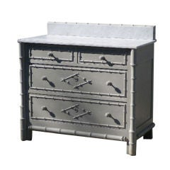 Painted Faux Bamboo Chest of Drawers