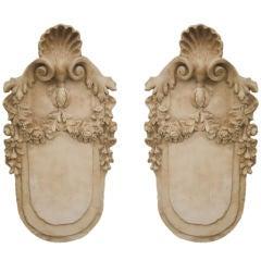 Pair of  Italian Plaster Plaques