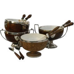 Antique Wooden Salad Bowls