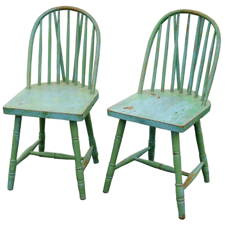 painted country chairs at 1stdibs