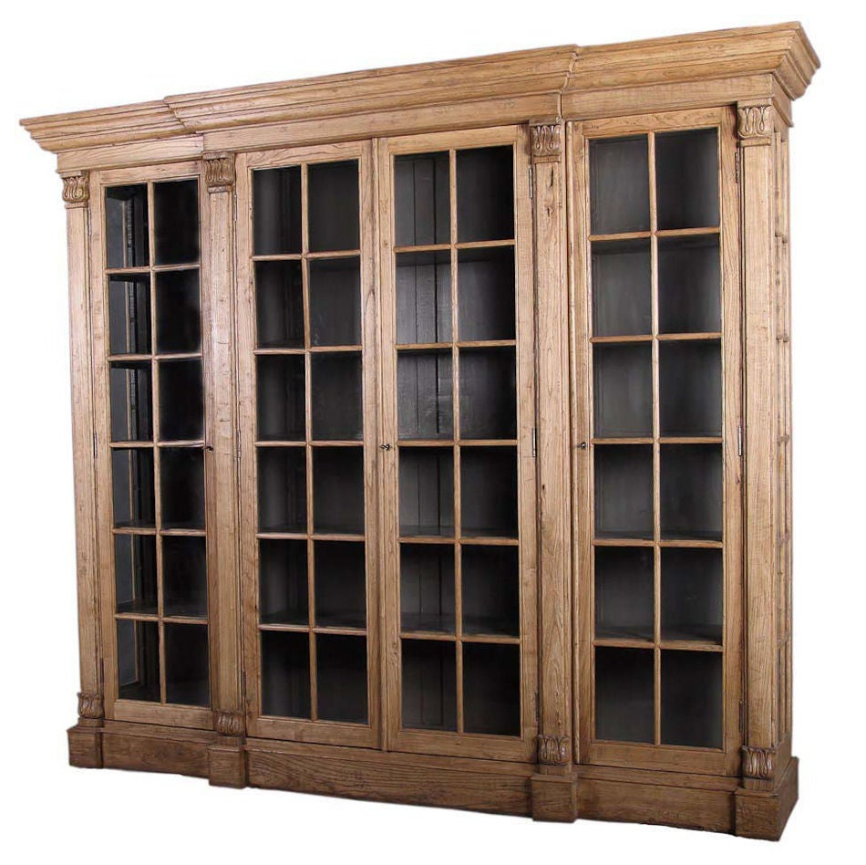 Glass Front Bookcase At 1stdibs
