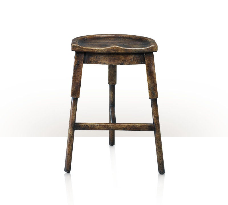 Rustic Wooden Counter Stool At 1stdibs