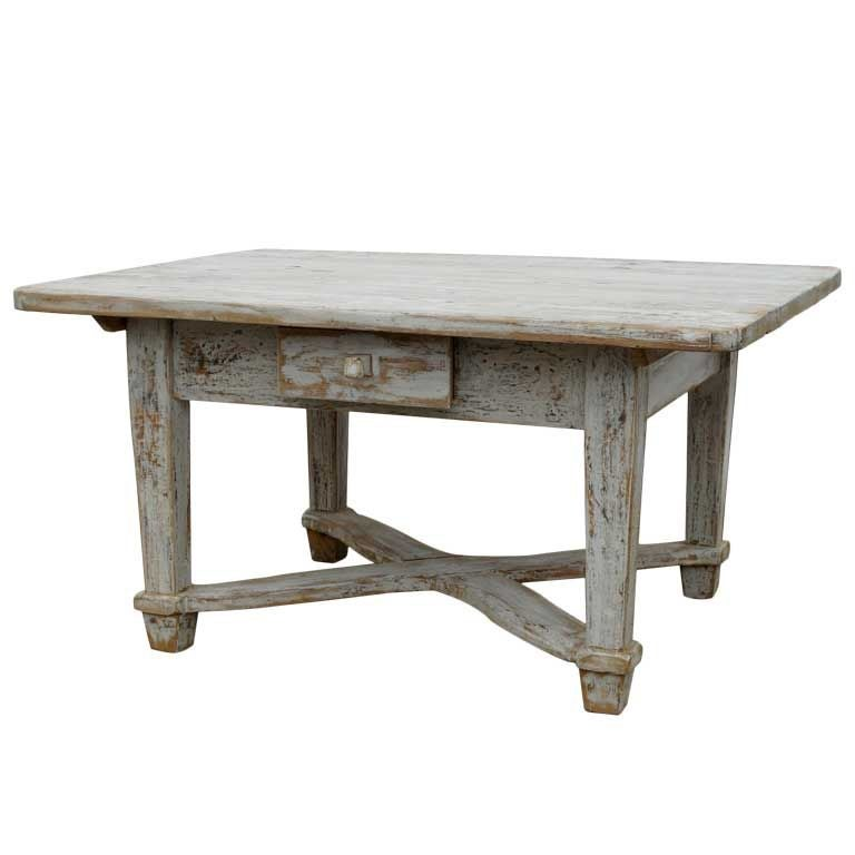 Swedish Country Coffee Table At 1stdibs