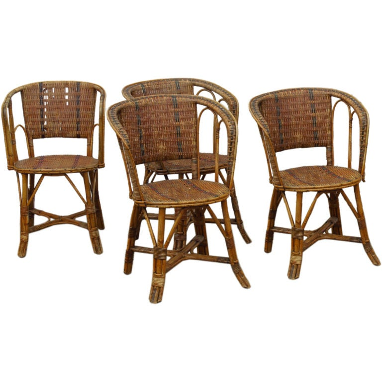 Cane bistro chairs at 1stdibs - Cane bistro chairs ...