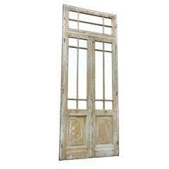 Mirrored Primitive Painted Wood Door