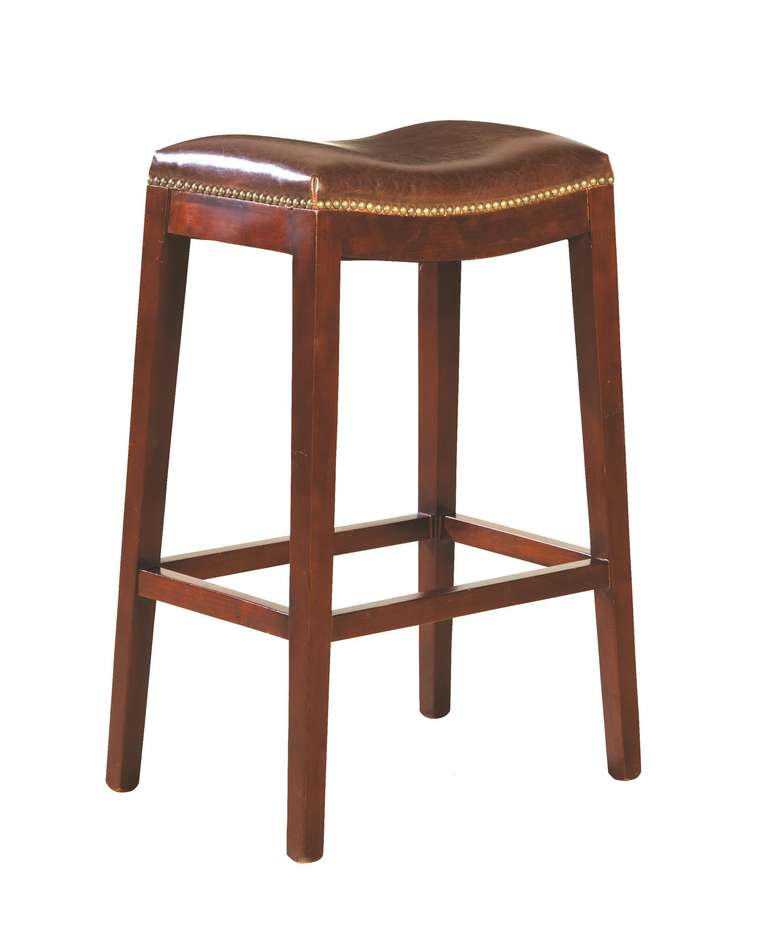 Leather Backless Barstool For Sale At 1stdibs