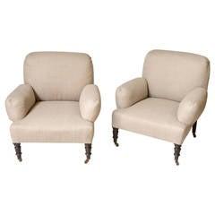 Single Club Chair in Linen