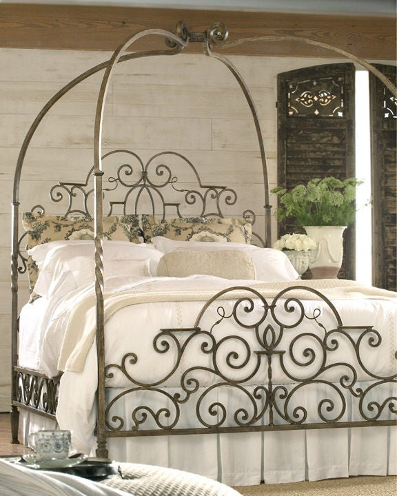 Ornate Metal Canopy Bed For Sale & Ornate Metal Canopy Bed For Sale at 1stdibs