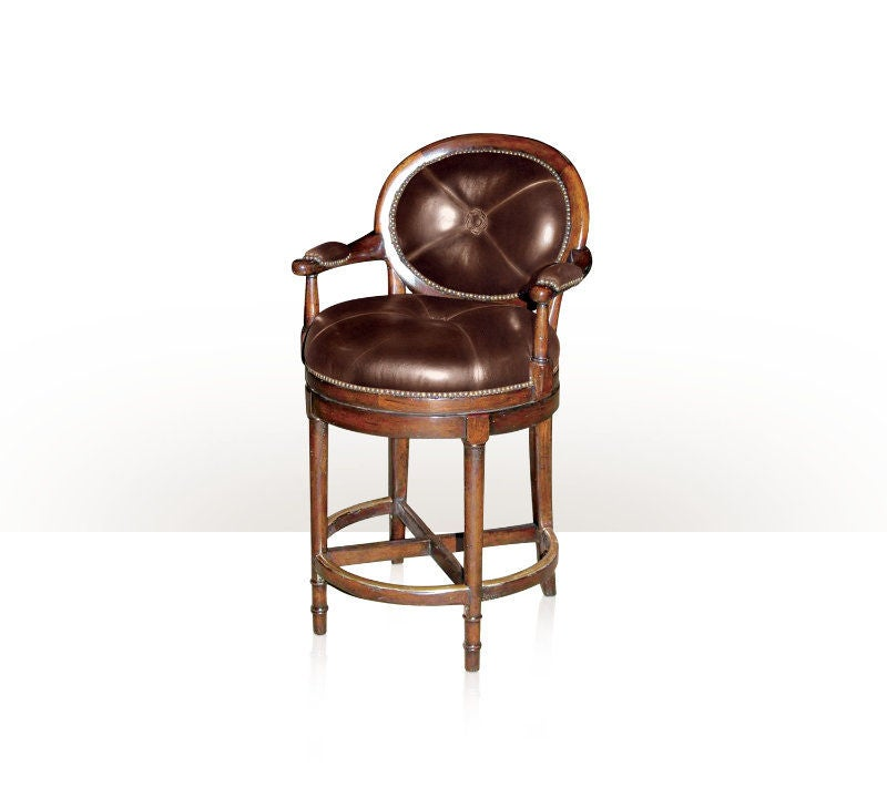 Leather Upholstered Counter Stool For Sale At 1stdibs