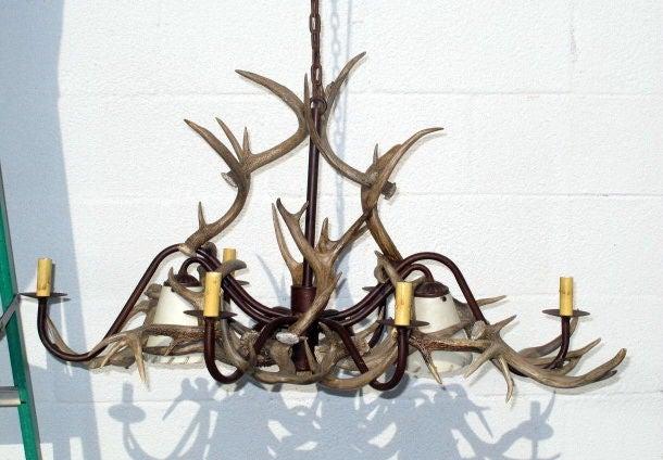 Natural Deer Horn Chandelier For Sale At 1stdibs