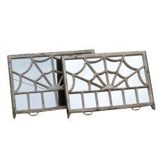 Unusual English Sash Window Mirrors