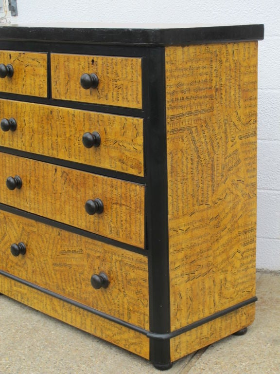 Chest of Drawers with Decoupage Music Sheets 3