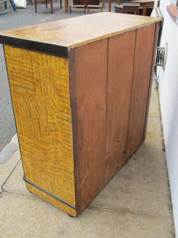 Chest of Drawers with Decoupage Music Sheets For Sale 3