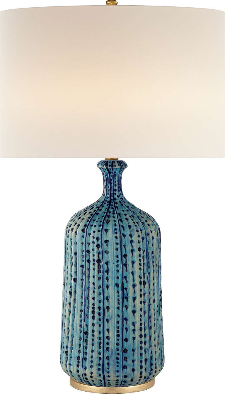 Pebbled table lamp for sale at 1stdibs for Aerin lauder visual comfort