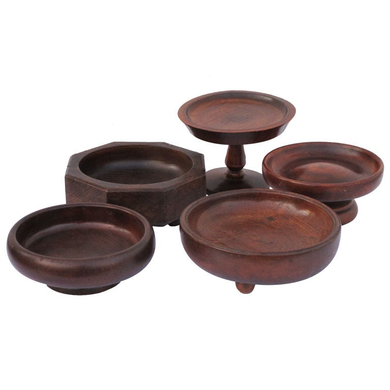 Wooden Dining Bowls ~ Wooden serving bowls at stdibs