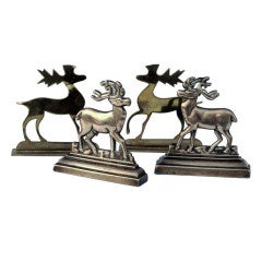 Brass Deer Mantel Ornaments