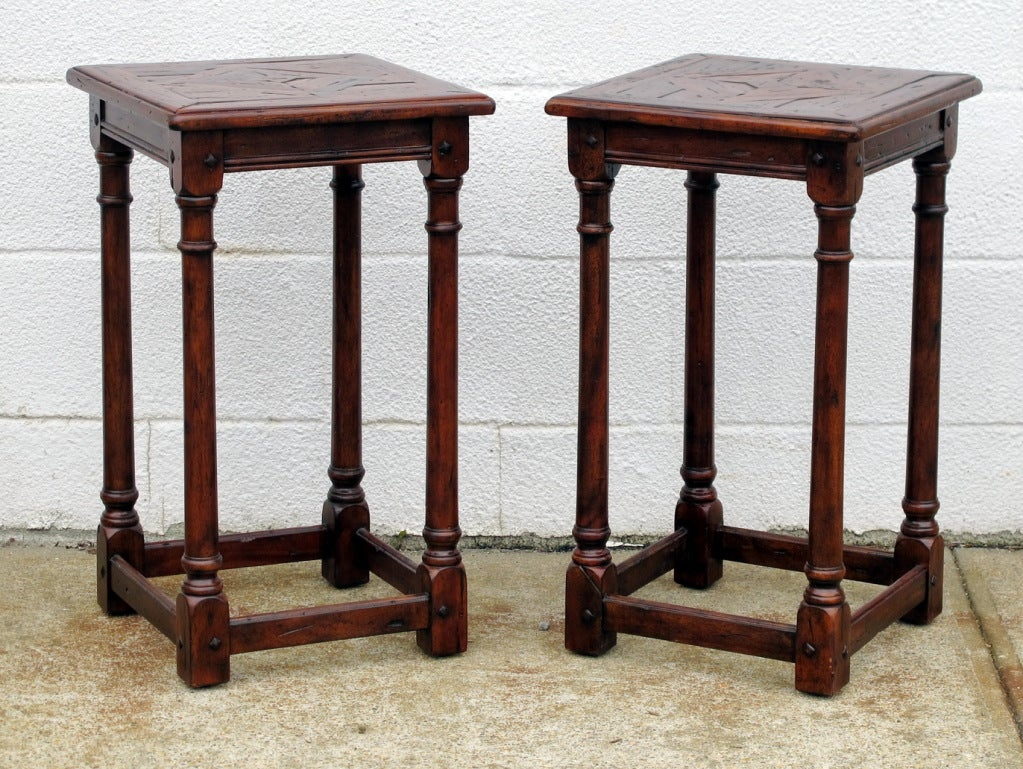 oak and poplar country side tables at 1stdibs