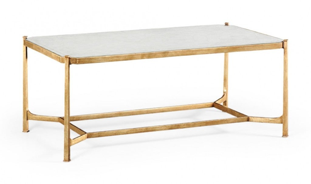 Antique Gold And Glass Coffee Table Designer Tables Reference