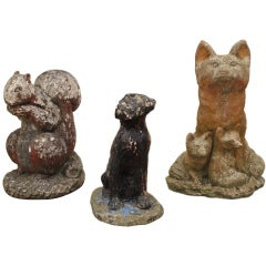 Collection of Stone Animals