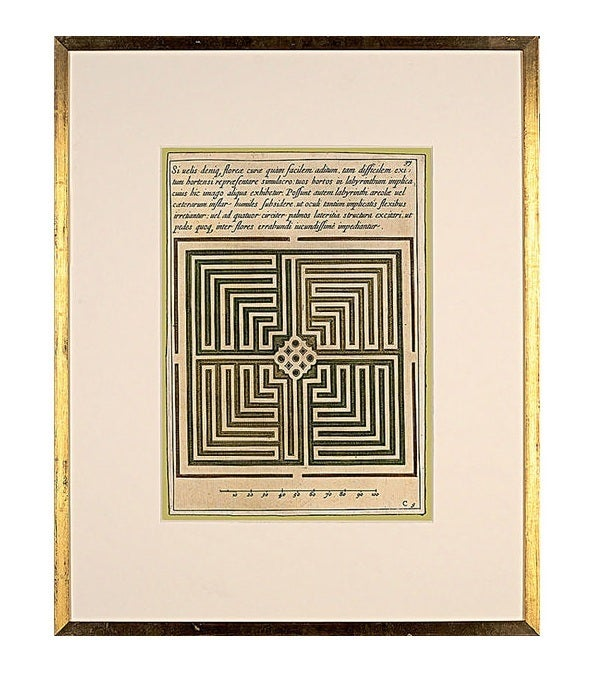 Garden Maze Prints For Sale at 1stdibs