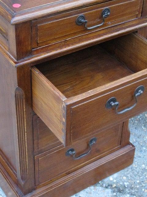 Oak Desk With Drawers ~ Oak desk with drawers at stdibs
