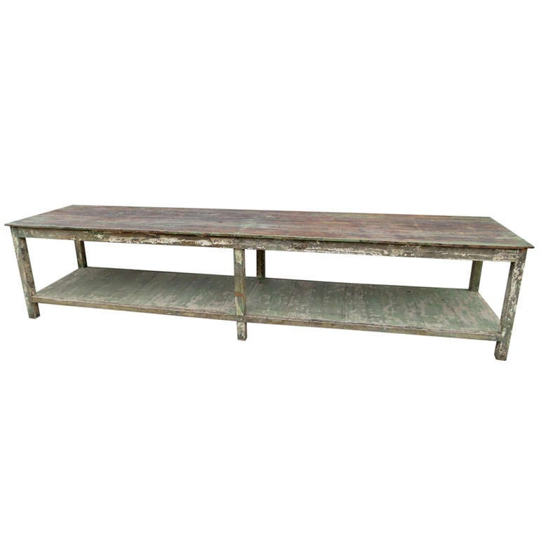 long oak table at 1stdibs