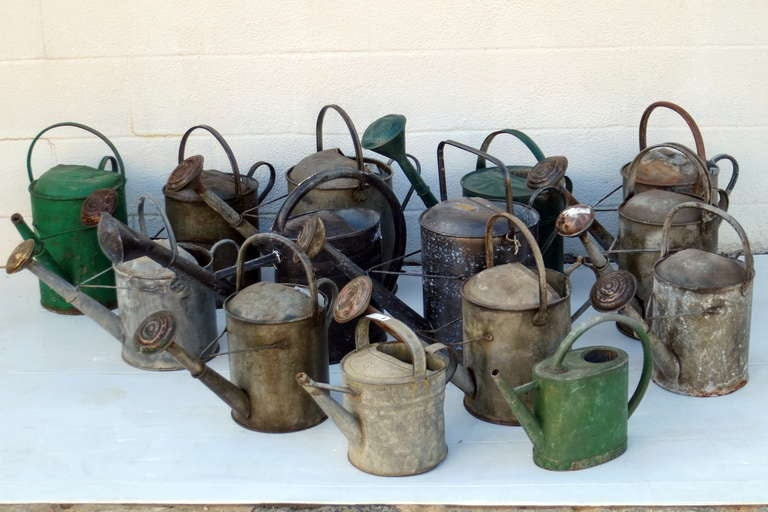 Vintage English Watering Cans For Sale At 1stdibs