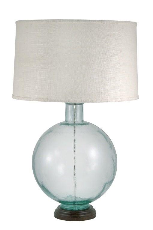 aqua glass lamp for sale at 1stdibs. Black Bedroom Furniture Sets. Home Design Ideas