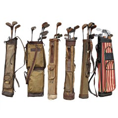 Vintage Golf Clubs with Bags