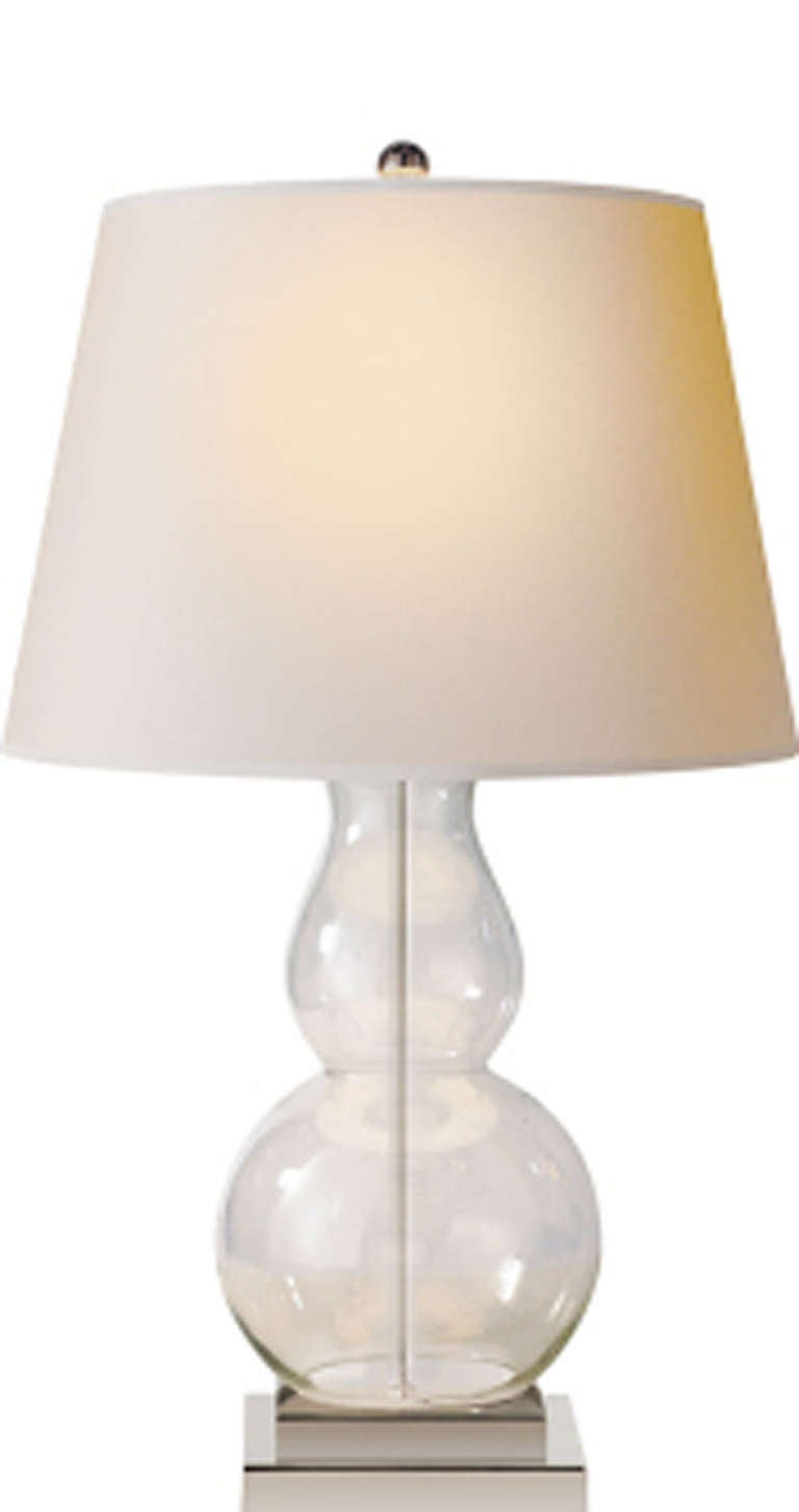 this gourd clear glass table lamp is no longer available. Black Bedroom Furniture Sets. Home Design Ideas