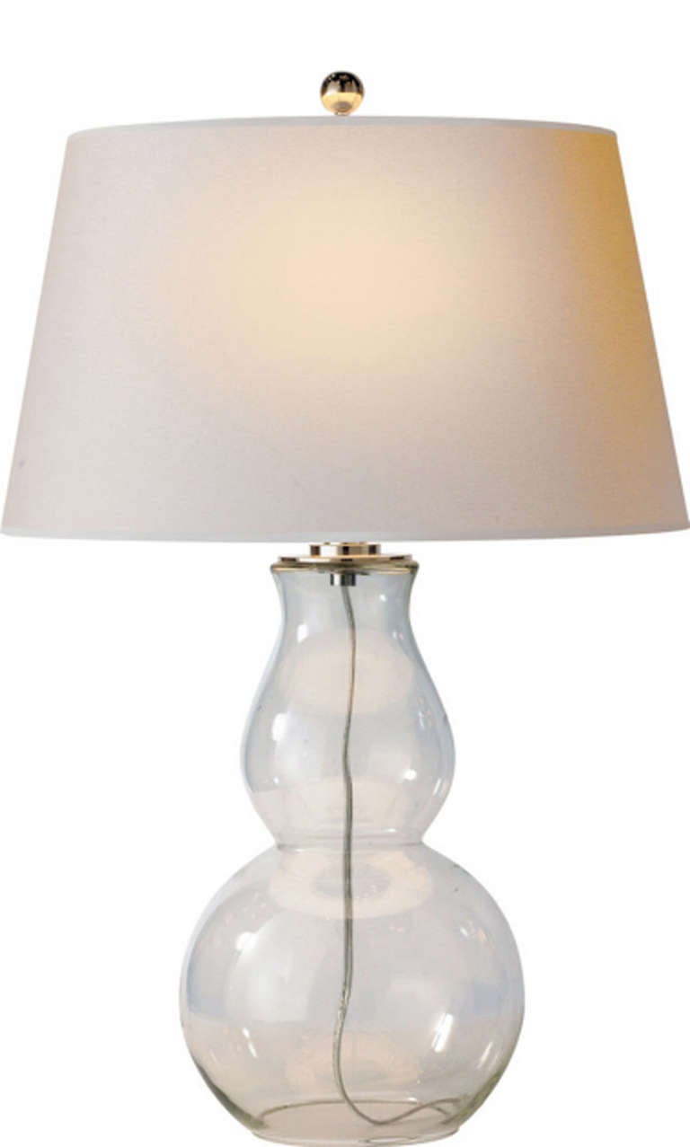 gourd table lamp in clear glass for sale at 1stdibs. Black Bedroom Furniture Sets. Home Design Ideas