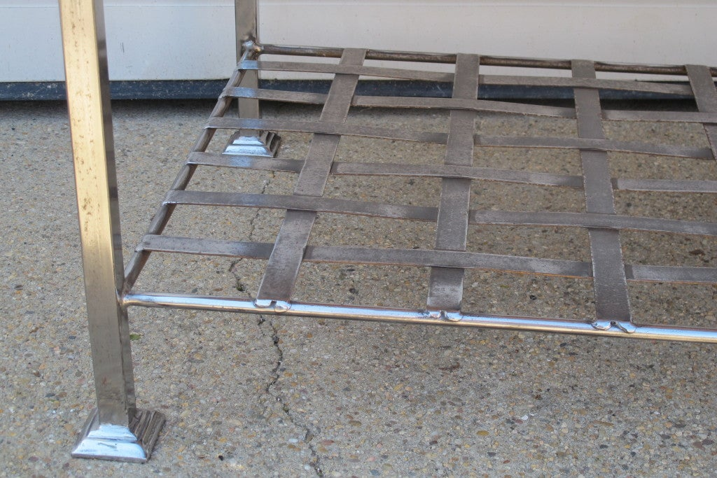 Copper Iron Coffee Table For Sale