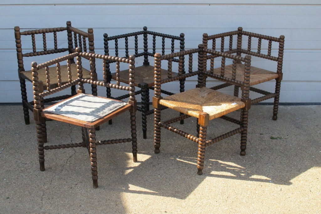 Collection Of Bobbin Corner Chairs 2