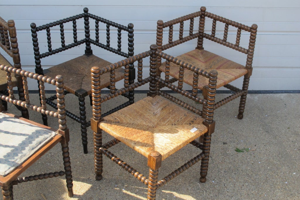 Collection Of Bobbin Corner Chairs 3