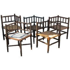 Collection of Bobbin Corner Chairs