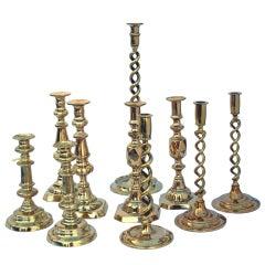 English Brass Candlesticks