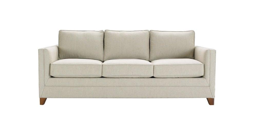 square arm custom upholstered sofa at 1stdibs