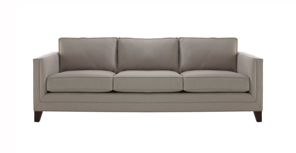 square arm custom upholstered sofa at 1stdibs