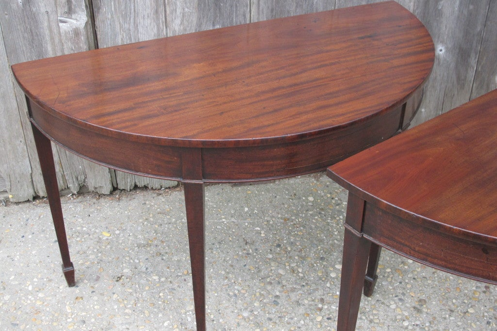 English Mahogany Demi Lune Tables At 1stdibs