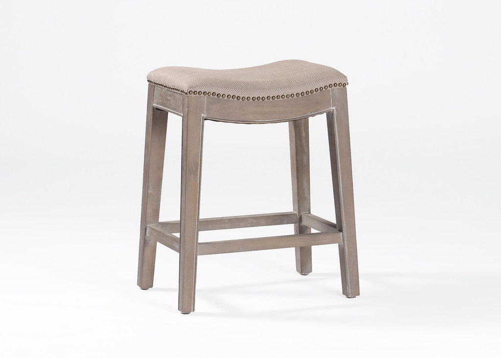 Linen Upholstered Counter Stool For Sale At 1stdibs