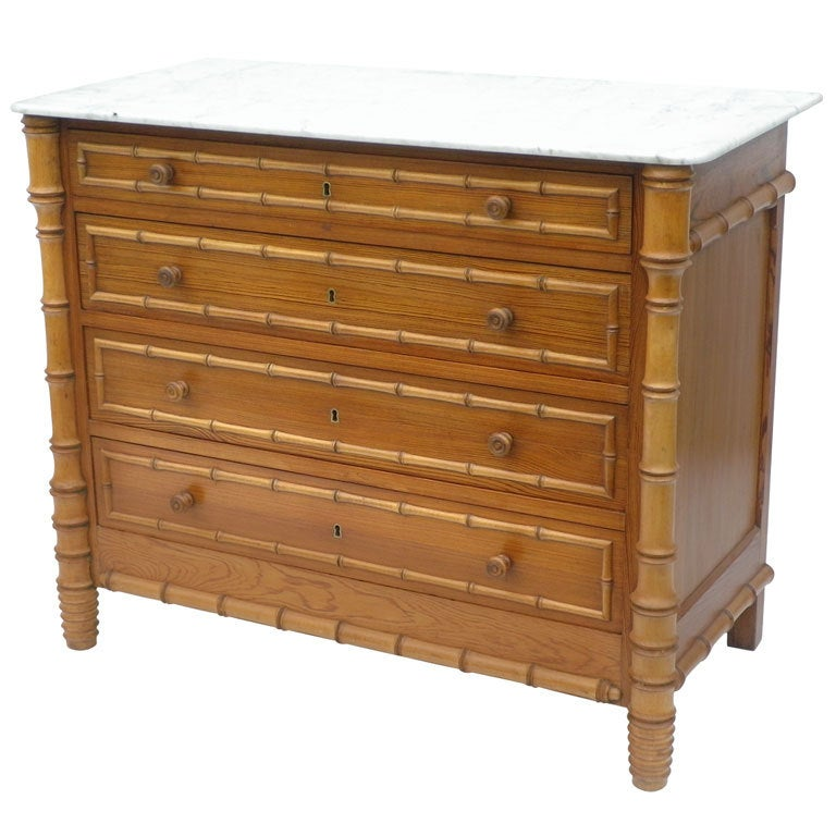 French Faux Bamboo Dresser At 1stdibs