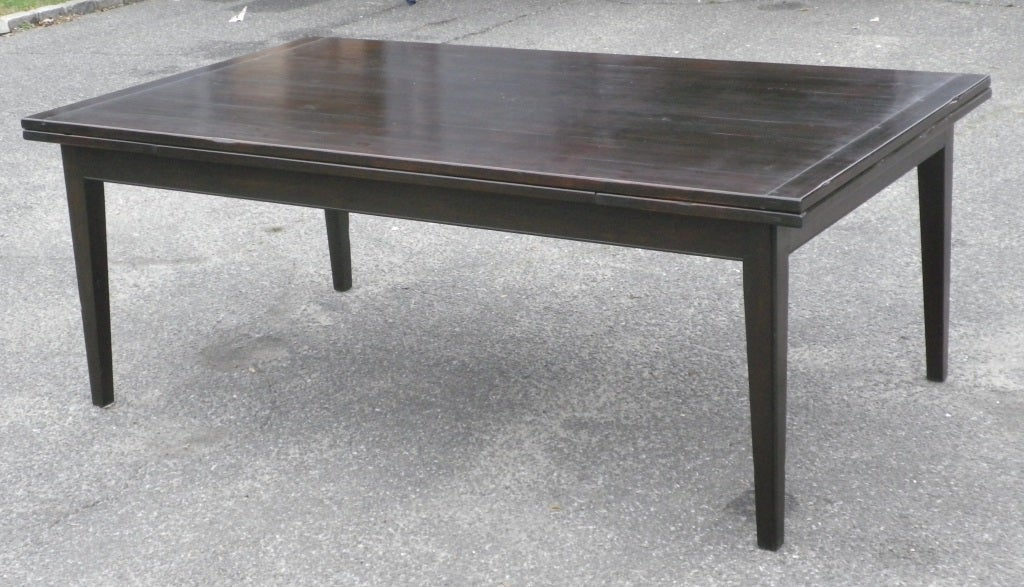 custom made dining table with extending leaves at 1stdibs. Black Bedroom Furniture Sets. Home Design Ideas