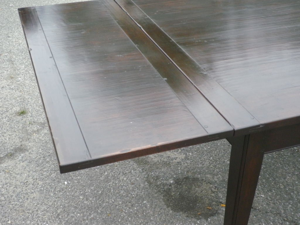 Custom Made Dining Table With Extending Leaves For Sale At 1stdibs