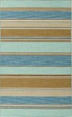 Blue & Brown Striped Dhurrie