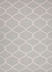 Pastel Blue Dhurrie with Thin Pattern