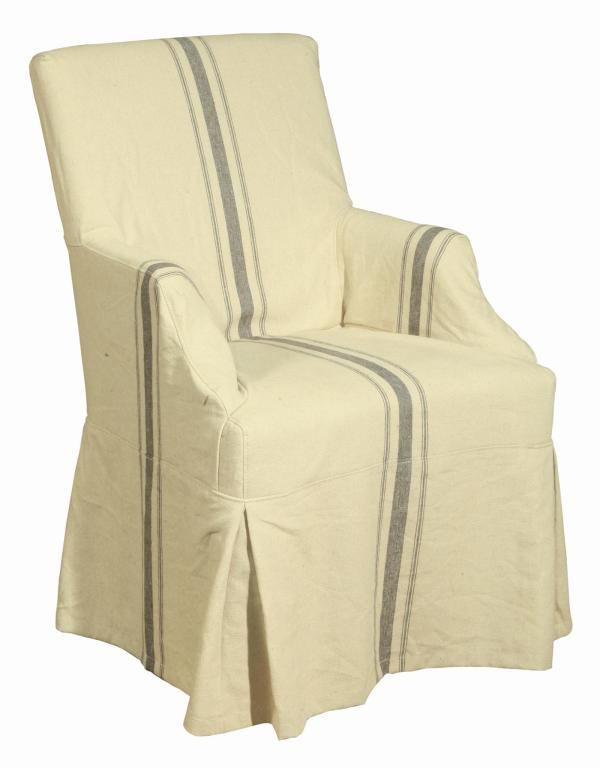 French Linen Arm Chair For Sale At 1stdibs