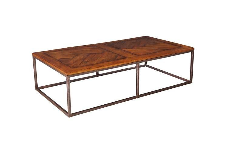 Repurposed Wood And Iron Coffee Table At 1stdibs