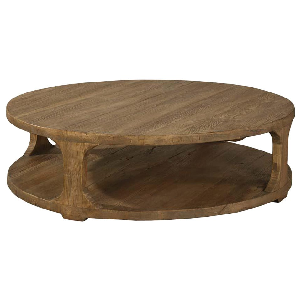 Stacked Elm Coffee Table At 1stdibs