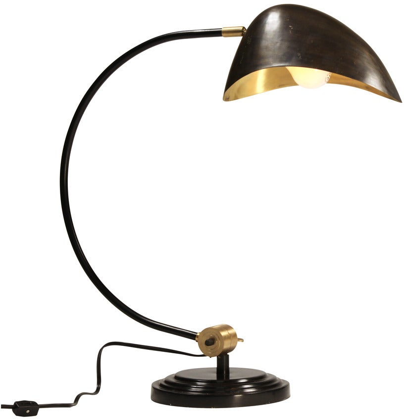 black and gold table lamp for sale at 1stdibs. Black Bedroom Furniture Sets. Home Design Ideas
